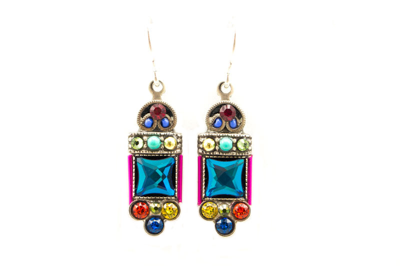 Multi Color Mirror Earrings by Firefly Jewelry