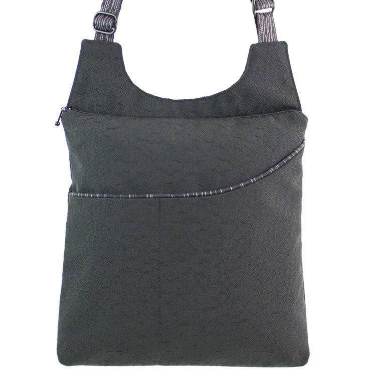 Maruca Cafe Sling Handbag in Crackle Black