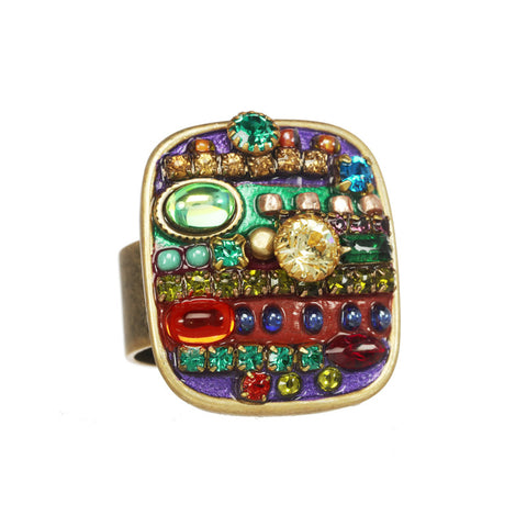 Multi Bright Square Ring by Michal Golan