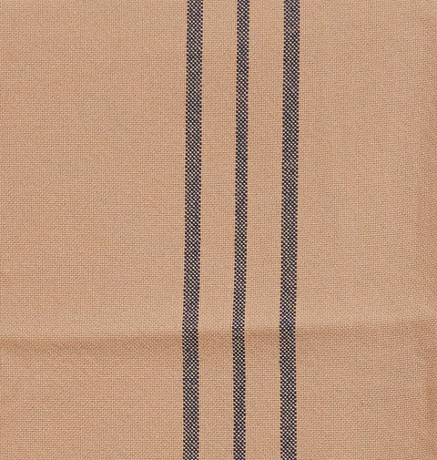 Feed Sack III Pillow Case in Tan with Blue