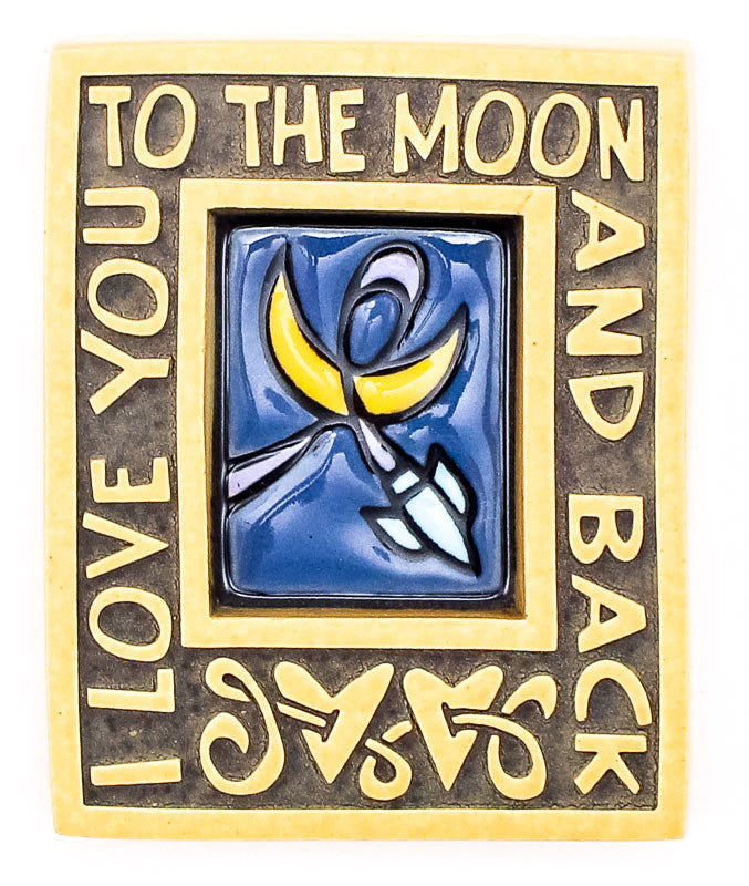 To the Moon Small Thick Ceramic Tile