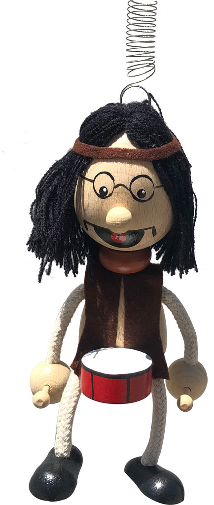 Hippie Drummer Handcrafted Wooden Jumpie