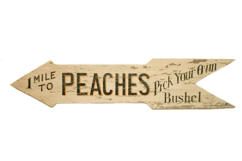 1 Mile to Peaches Arrow Americana Art