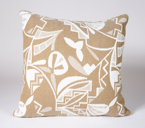 Potery Shard Pillow in Osage and White with Diamond/Chevron Back