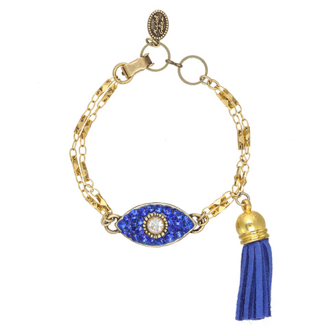 Royal Blue Tassle Bracelet