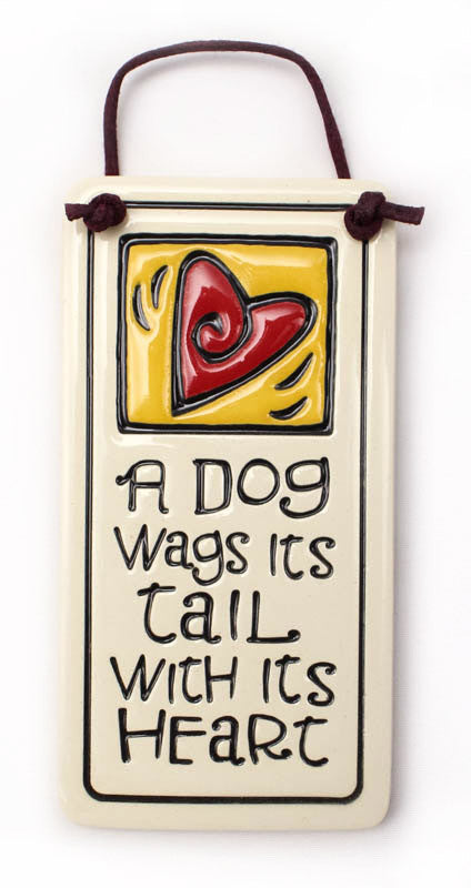 A Dog Wags Tail Charmer Ceramic Tile