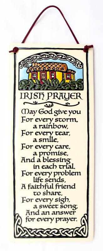 Irish Prayer Large Tall Ceramic Tile