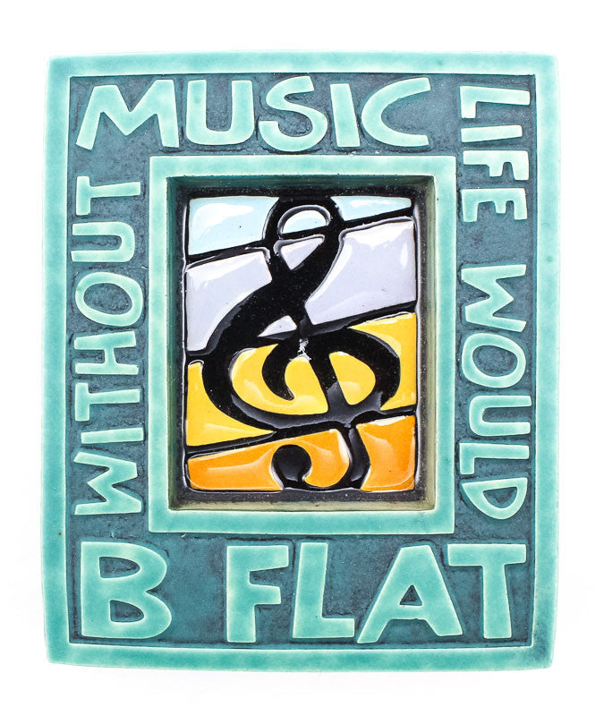 Music B Flat Small Thick Ceramic Tile