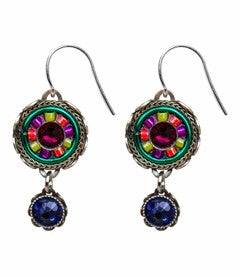 Multi Color La Dolce Vita Small Round Earrings by Firefly Jewelry