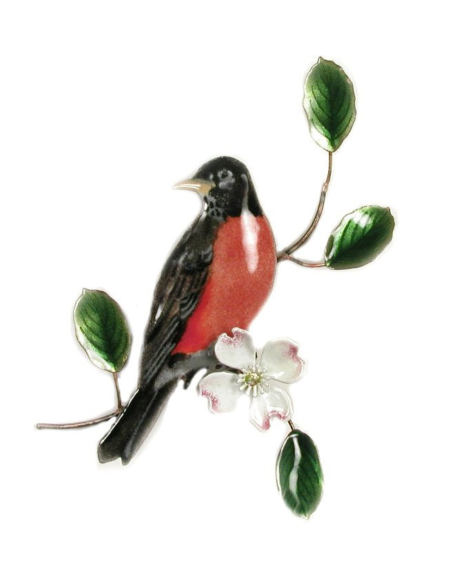 Robin on Dogwood Wall Art by Bovano Cheshire