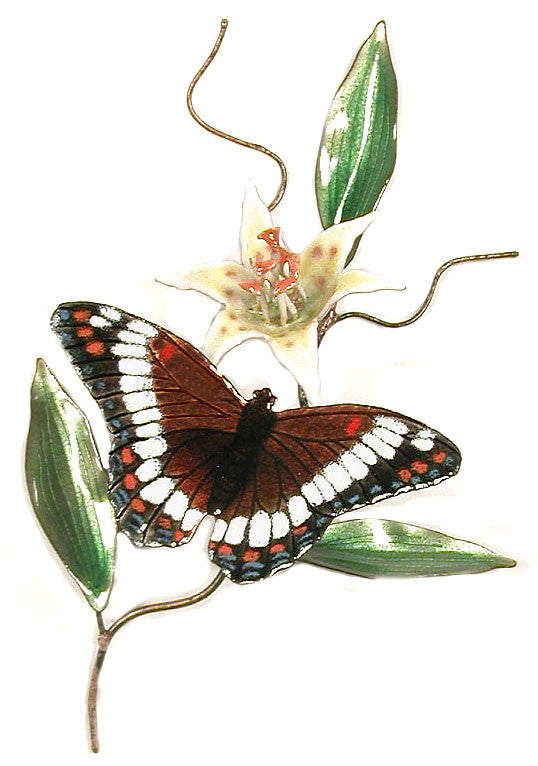 White Admiral with Flower Wall Art by Bovano Cheshire