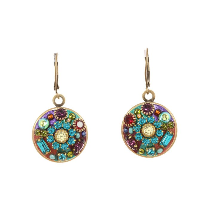 Multi Bright Round Earrings