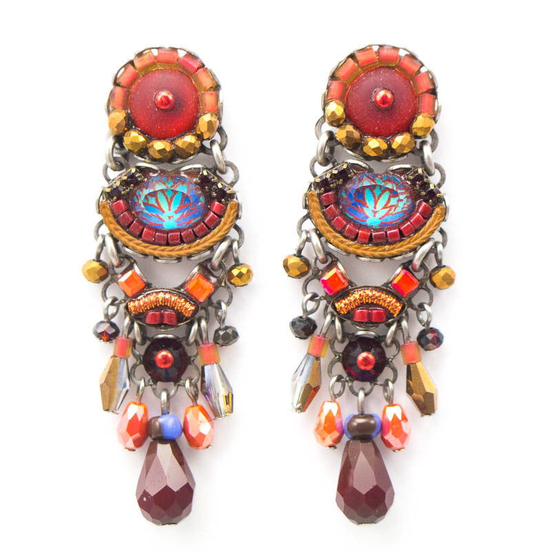Crimson Shadows, Medium Classic Collection Earrings by Ayala Bar