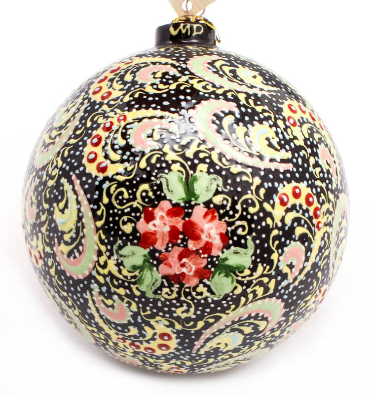 Carnation Ballet Large Bulb Ceramic Ornament