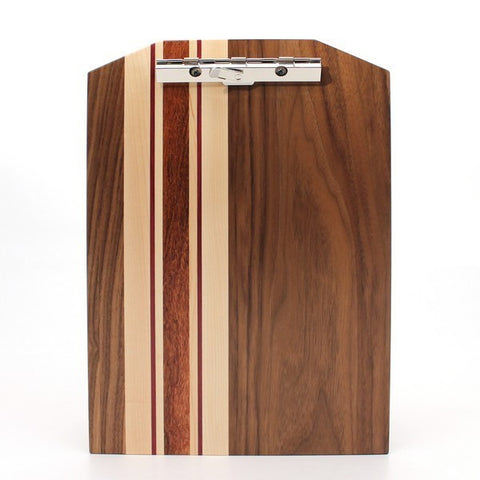 "Standard Striped Clipboard in Walnut - Size 9""x13"""