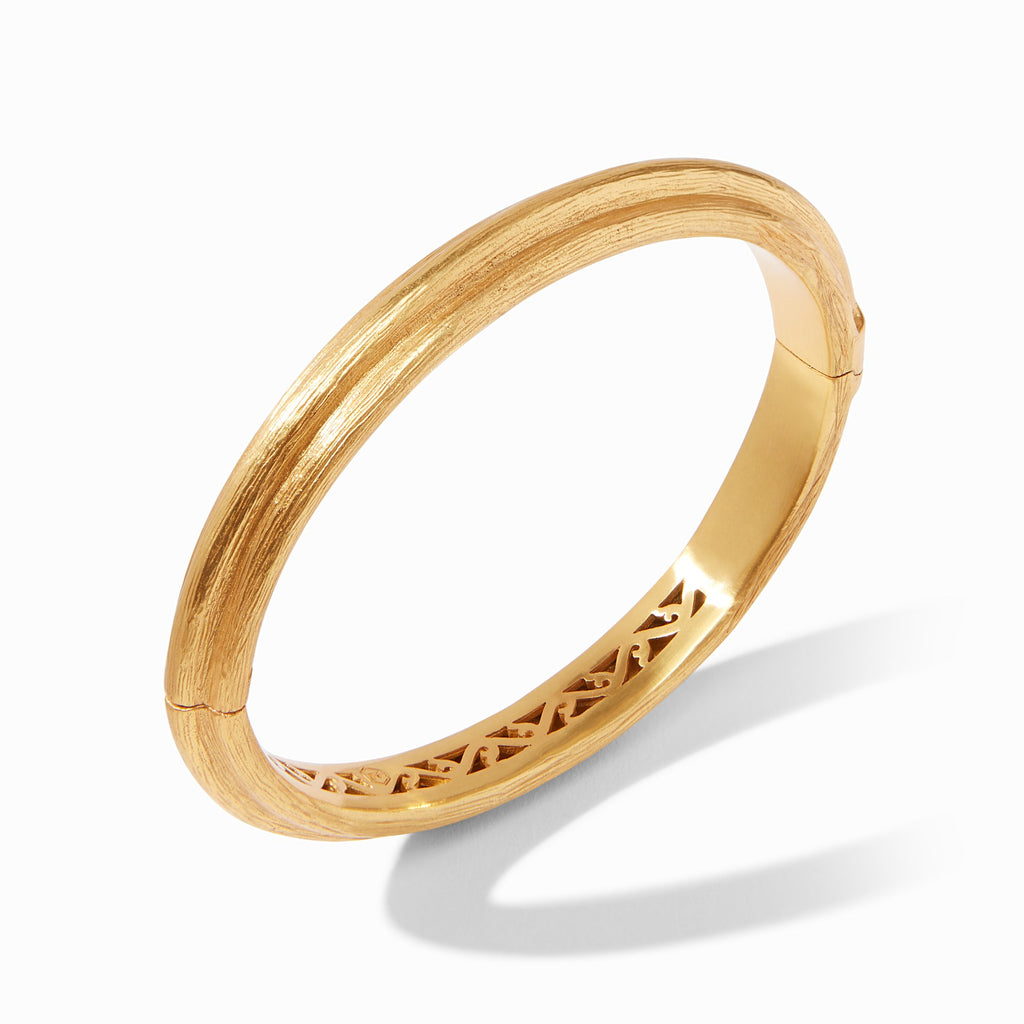 Barcelona Hinge Bangle Gold by Julie Vos