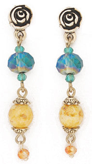 Laredo Crystal Dangle Post Earrings by Desert Heart