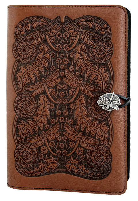 Large Leather Journal - Dandelion Seed in Saddle