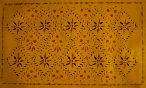 Wayside Inn in Yellow Ochre Floorcloth