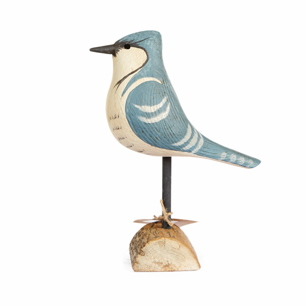Hand Carved Blue Jay