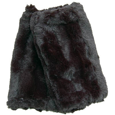 Minky Black Luxury Faux Fur Fingerless Gloves
