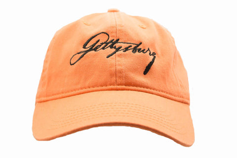 Lincoln's Script Gettysburg Hat with Black Script - Multiple Colors