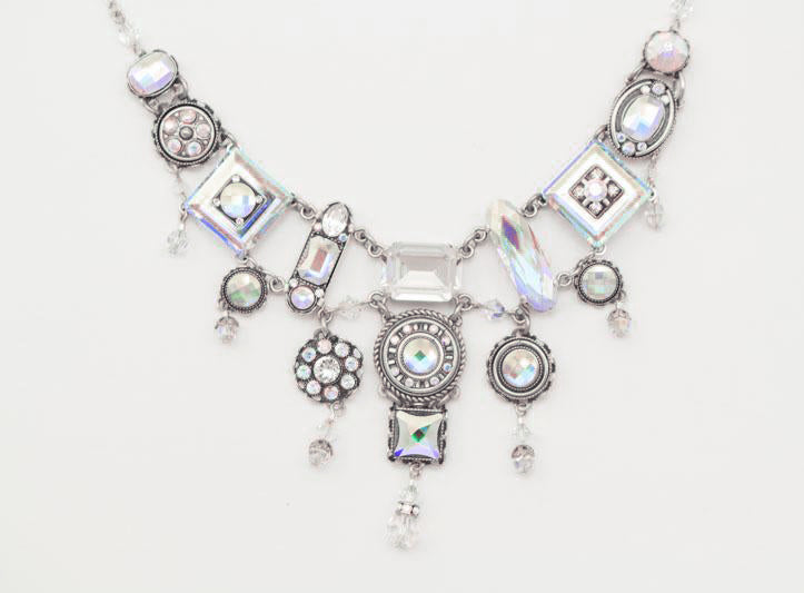 Aurora Borealis La Dolce Vita Elaborate Necklace by Firefly Jewelry
