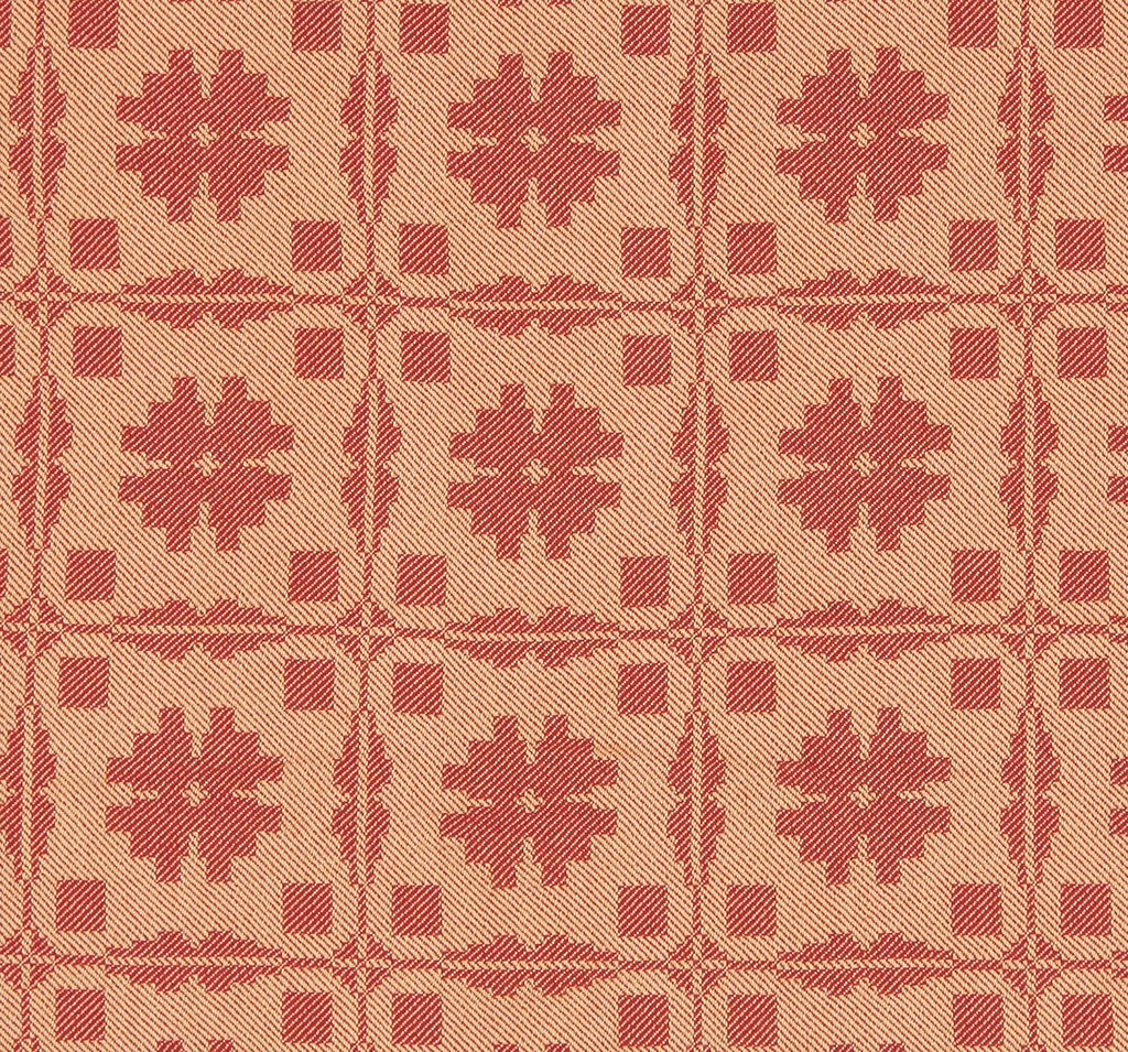 Fancy Snowballs Queen Coverlet in Red