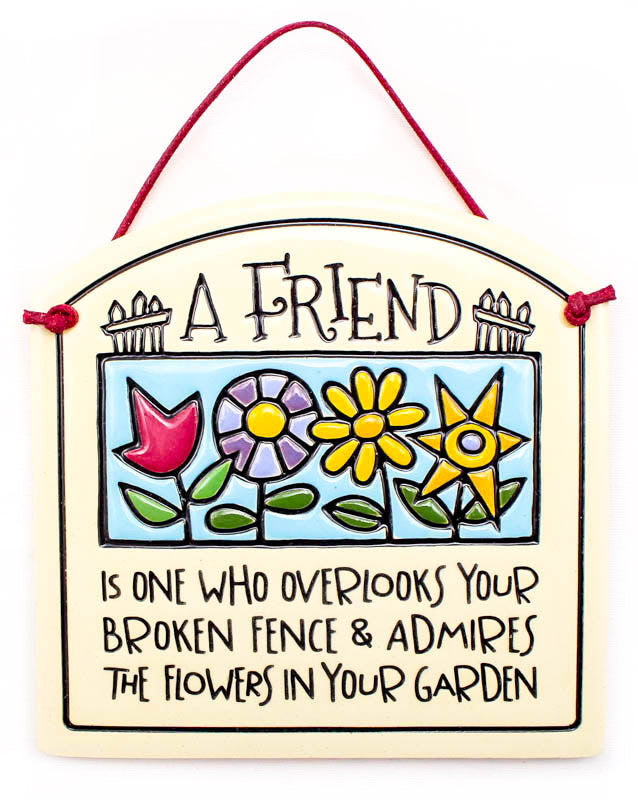 A Friend Is Small Arch Ceramic Tile