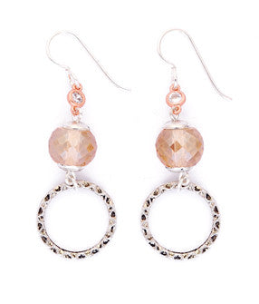 Rose Crystal Drop Earrings by Desert Heart