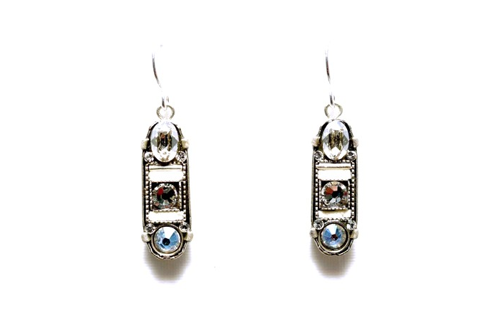 Silver La Dolce Vita Oval Mosaic Earrings by Firefly Jewelry
