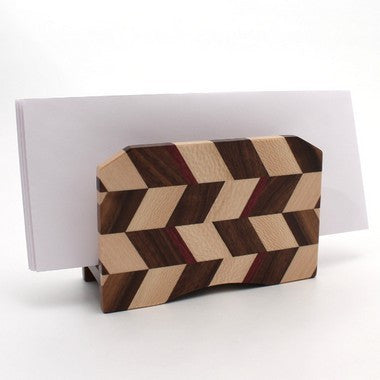 Checkered Letter Holder in Maple