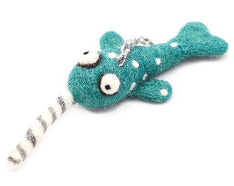 Narwhal Woolie Ornament