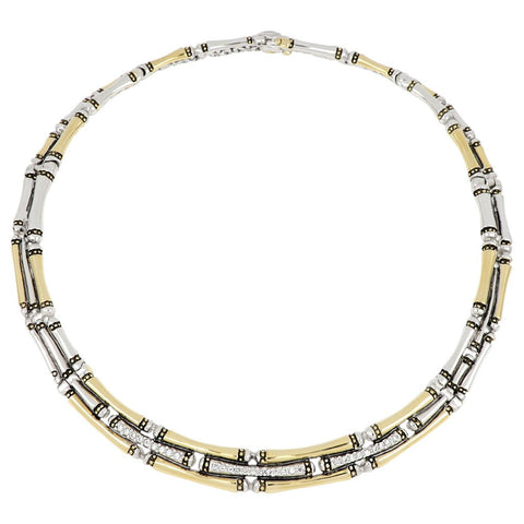 Canias 3 Row Pave Necklace by John Medeiros