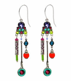 Multi Color Hodgepodge Earrings by Firefly Jewelry