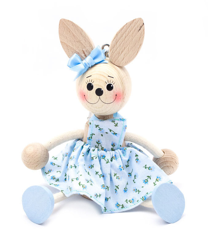 Bunny Girl Handcrafted Wooden Jumpie