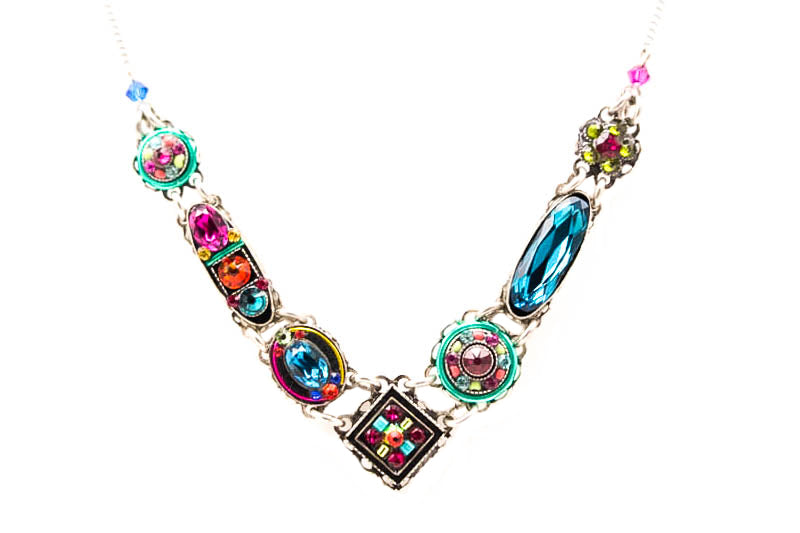 Multi Color Vita V Necklace by Firefly Jewelry