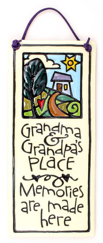 Grandpa's Place Small Tall Ceramic Tile