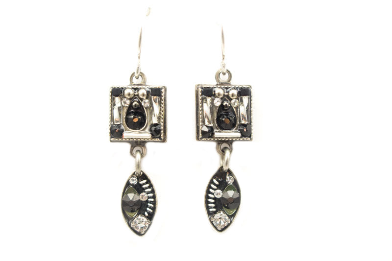 Black and White Viva Earrings by Firefly Jewelry