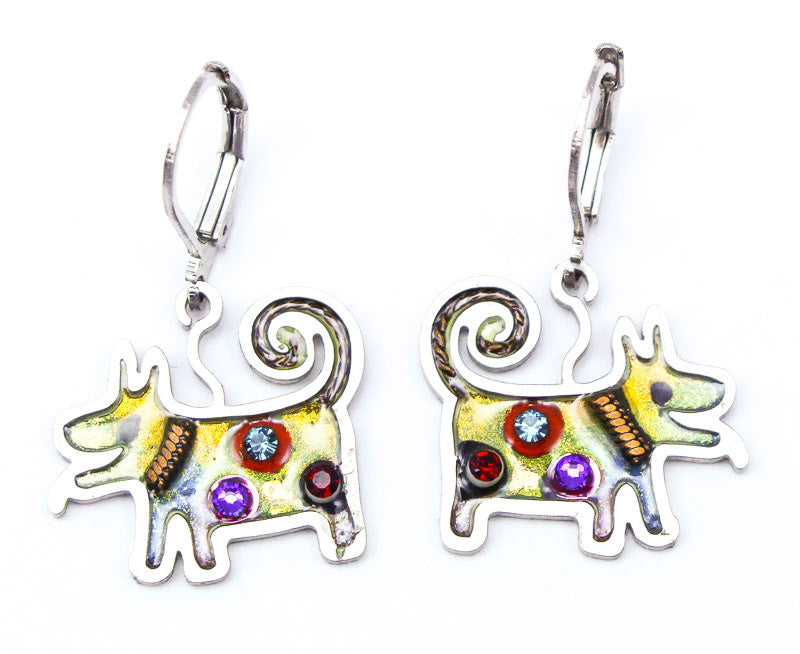 Spirited Puppy Earrings