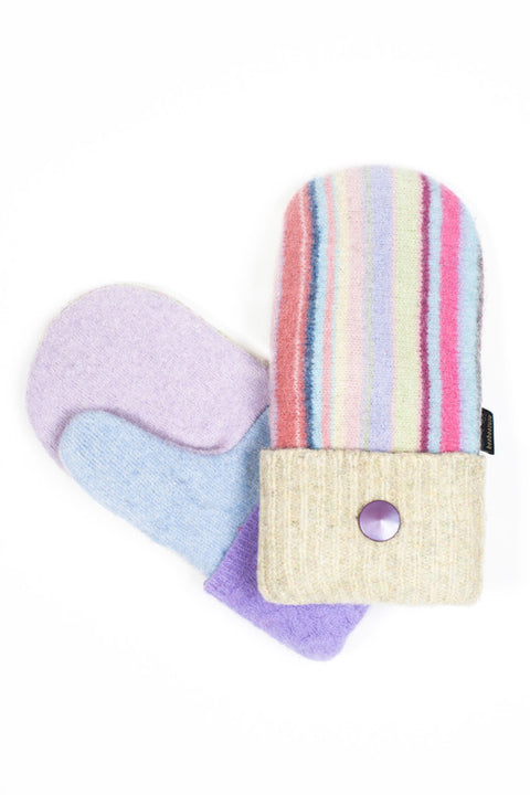 Wool Mittens in Pastel