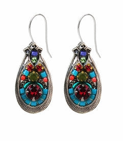 Multi Color Drop Earrings by Firefly Jewelry