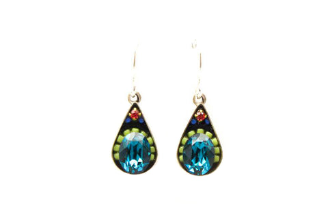 Indicolite Crystal Drop Earrings by Firefly Jewelry