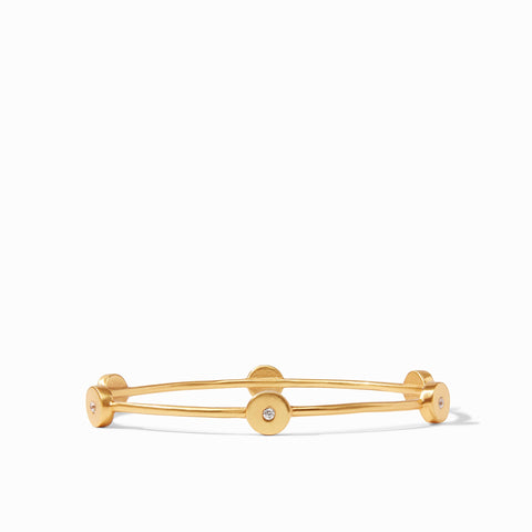 Poppy Bangle Gold Cubic Zirconia - Medium by Julie Vos