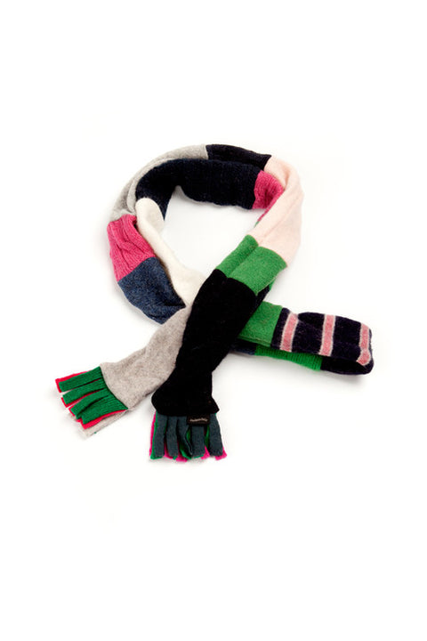 Wool Skinny Scarf in Bright