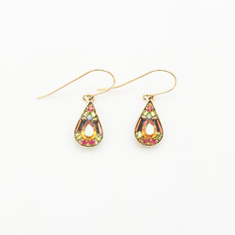 Smokey Topaz Mosaic Teardrop Earrings by Firefly Jewelry