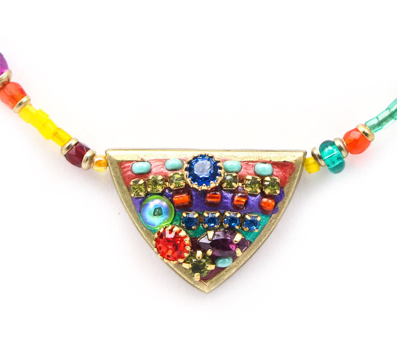 Multi Bright Single Spike Necklace by Michal Golan