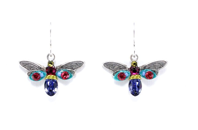 Multi Color Mosaic Firefly Earrings by Firefly Jewelry