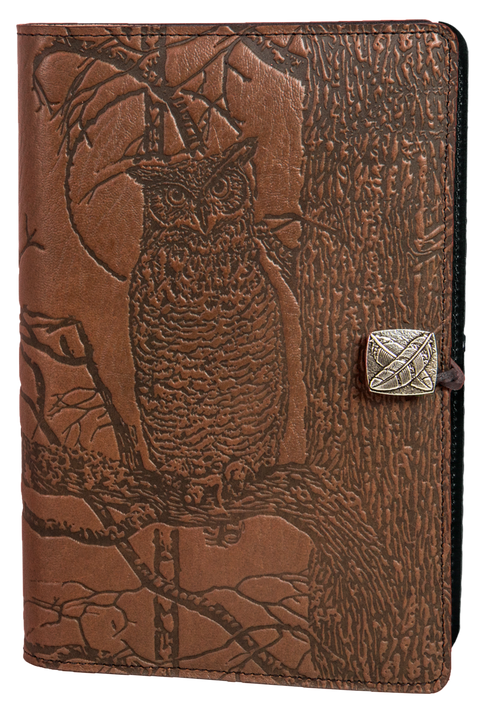 Horned Owl Large Journal in Saddle
