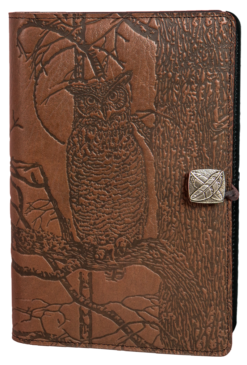 Small Leather Journal -  Horned Owl in Saddle